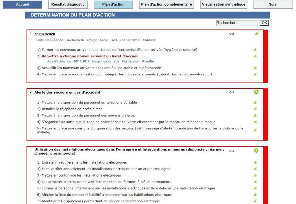 Plan d'actions XPERT Santé-Sécurité